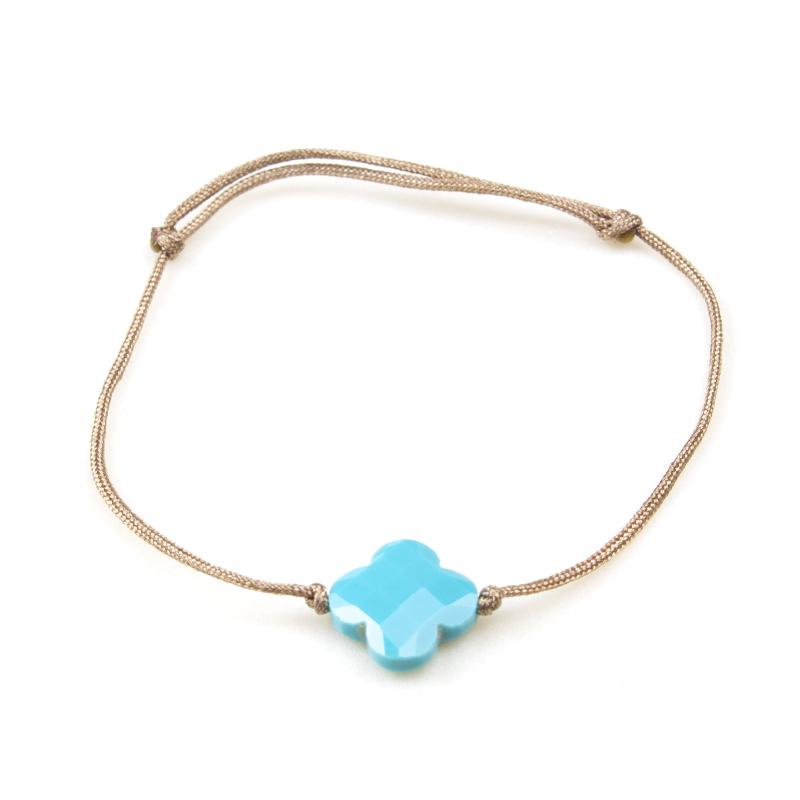 ZAG bracelet en Agate bleu turquoise