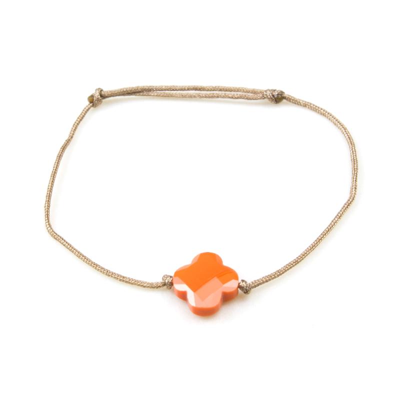 ZAG bracelet en Agate orange
