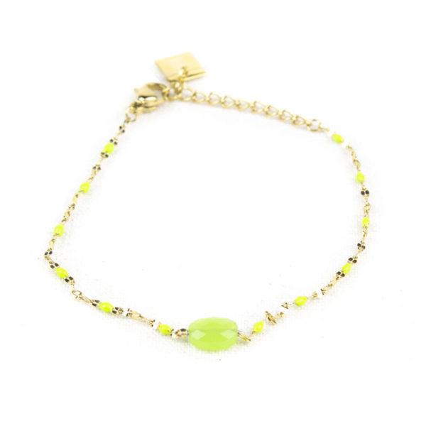 bracelet-zag-rose-perle-vert