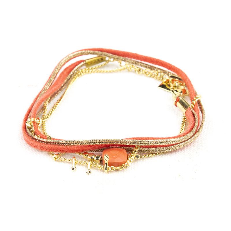 bracelet-zag-double-tour-orange